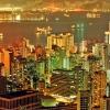 香港 港灣夜景